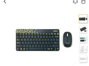 罗技键盘鼠标套装,外观时尚,手感好,反应快,最主要是省电。正品原价120'现在70处理   同城免费...