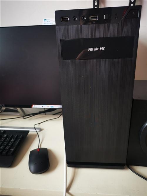 閑置臺式機便宜出售,AOC24寸窄邊框液晶顯示器,英特爾CPU,500G硬盤,4g內存,主機沒有任何...