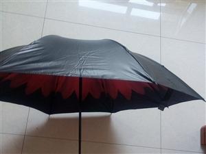 全新晴雨两用黑胶伞