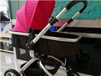 九成新Gubi高景观婴儿可坐可躺手推车