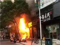 【突发】慈溪浒山城隍庙市场有个店铺着火了