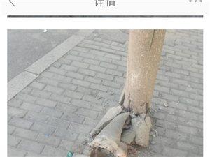 通讯电线杆存在安全隐患