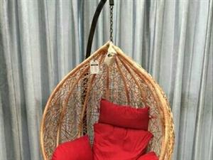 出售阳台休闲真藤椅摇篮一个