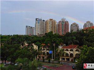 今早,珠海出�F�^美�p彩虹,你有拍到�幔靠梢苑窒硪幌�幔�