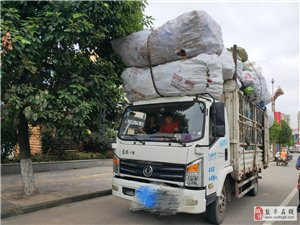 """超高超长满载货物,一辆""""吃撑了""""的货车"""