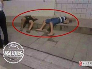 深夜!寻乌街头昏睡二男子,引起了交警的注意!