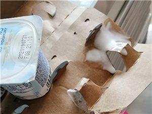 亚兴超市酸奶漏了用胶带粘住继续卖