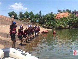 赣南救援队寻乌大队进行水上项目训练
