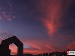 刚刚,珠海的火烧云你预见了吗?欢迎关注墨迹天气