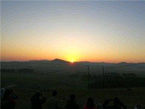 分享一下草原的日出