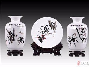 赵录平国画作品由人民大会堂入选为国礼陶瓷