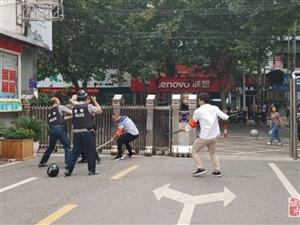 枝江市团结路小学举行反恐防暴应急演练