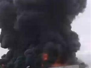 临沂市兰山区枣园镇金雅塑料厂突发大火