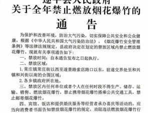 澳门金沙网址站县人民政府关于全年禁止燃放烟花爆竹的通告