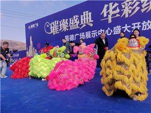 人山人海,张家川县易德广场展示中心盛大开放