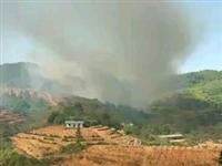 寻乌菖蒲乡发生火烧山,天干物燥,注意防火!