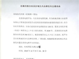 松桃区域公共品牌发布会邀请函