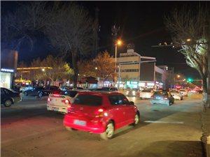 晚上出来逛个街,车好多,大博兴的夜景不错