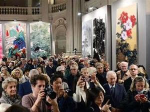 中国顶级书画展,今天到达意大利佛罗伦萨宫进行展出。