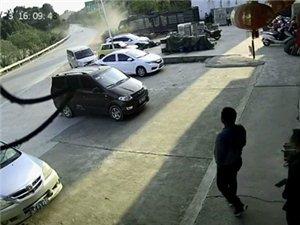 飞来横祸,白色小车180度大漂移(吻上)教练车