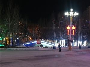 铁力林业局公司张灯结彩喜迎新年