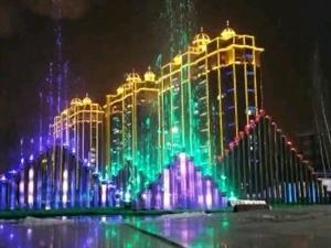 铁力市公园冬季喷泉试��