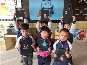 """伴随着2020有鼠意的雪景,博兴县第三小学附属幼儿园中三班开展""""有雪人的贺卡"""",孩子们充分发挥想象力"""