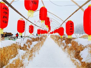 大红灯笼高高挂,拍摄于铁力成子渔村