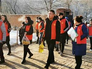 雷锋联盟朝阳市分中心志愿团送温暖献爱心