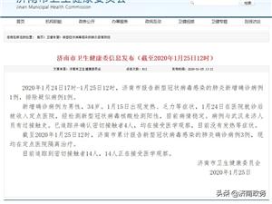 【济南市新型冠状病毒感染的肺炎新增确诊病例1例,累计确诊病例3例,排除疑似病例1例。】