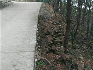 通往泉水寨的上山公路,自二零一六年七月一日暴雨水�Ш螅�有�商�至今�]有修�停�存在非常大的安全�[患。�m然