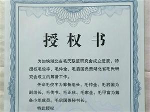 湖北省毛氏宗亲组织筹备内幕一、2010年10月19日在浙江江山市举行的江山第二届