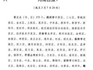 河南省信阳市列为三类县市之后居民出入正常与全面恢复正常生产生活之后的防护问题三月七号二十