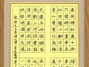 刘书鸿硬笔书写毛主席诗词作品