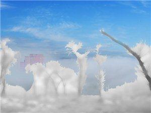 《山城雪挂》