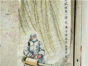 欣赏常运起国画武汉曙光,春风吹来一扫光。