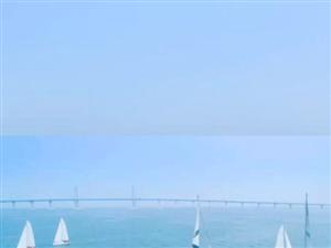 #我的悠�L小假期#海上看珠海,越看越精彩,�P帆出海,近距�x�^看世�o工程港珠澳大�颍��芬踩谌冢�