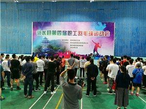 【羽毛球快讯】2020年邻水县职工羽毛球比赛开幕式,在高亢的国歌声中今天下午1点半在邻水明昊羽毛球馆