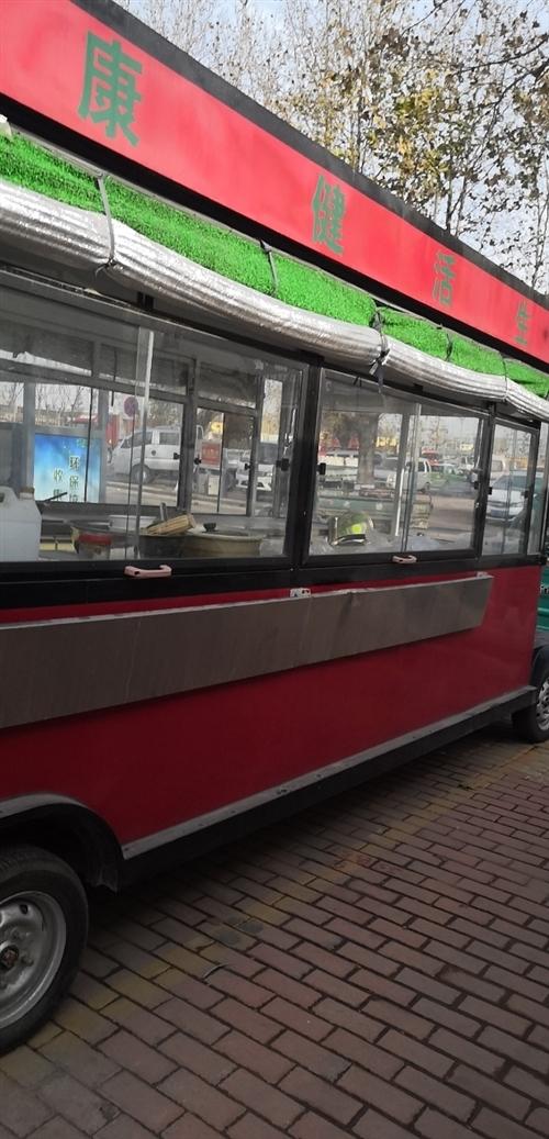 早餐车长是4米宽是1.6米红套黑色