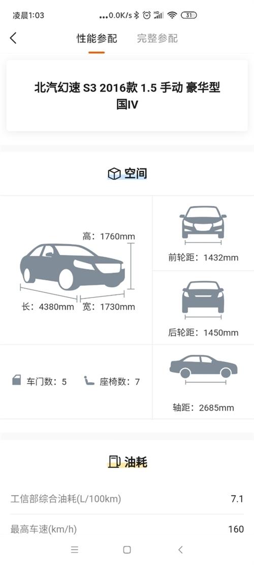 北汽幻速S3 2016款1.5手动