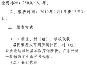 最新!2020年富顺县城乡居民基本医院保险看过来