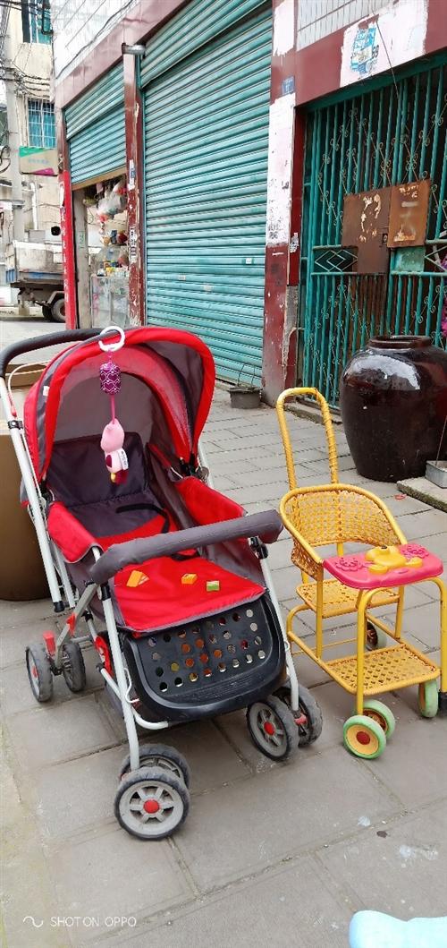 孩子现在不用了, 8层新婴儿推车-送个小的竹编推车。 90,大的可以睡觉,小的夏天正方便 需要...