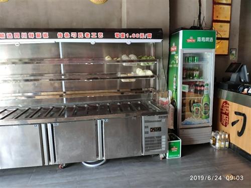 麻辣燙店廚房一套用了一年,冰柜保險平臺  展柜等全套設備打包處理,想做麻辣燙生意的可以考慮,加盟廠家...