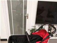 德国pouch婴儿推车,可躺可坐可折叠,带棉睡袋、蚊帐、雨衣,双向推,九成新,因朋友多赠送一架而闲置...