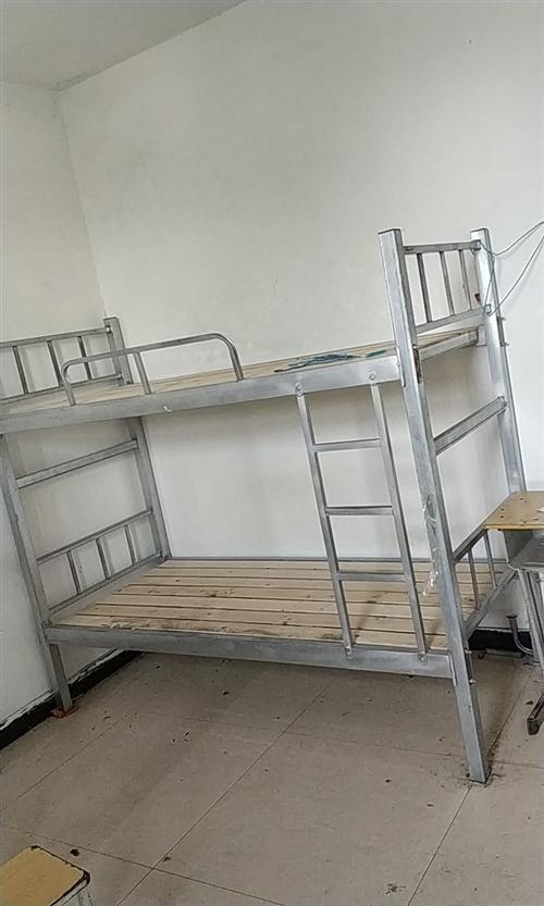 大量二手上下铺床急售,价格优惠,八十一个!!!