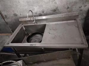 一台煎饼果子机带操作台,一个水槽低价处理,都才用几个月!