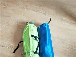 雙人戶外帳篷,全新,1.8×2m,雙層布料,防曬防潮,輕便易攜帶,內涵雙人氣墊床,野炊避暑、戶外垂釣...