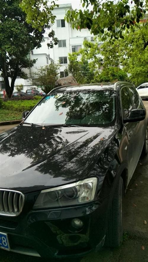 黑色寶馬X3,2013款,車主為愛車一族,車子保養很好