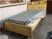 全新未用实木床,多功能床头,带品牌床垫,尺寸1.2*2米,低价出售