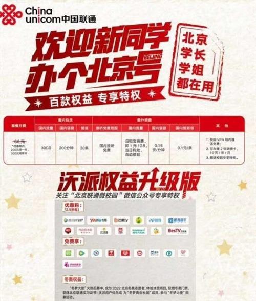 北京联通200用一年,300用两年 每月含200分钟全国语音、30全国流量、短信30条、套外国内语...